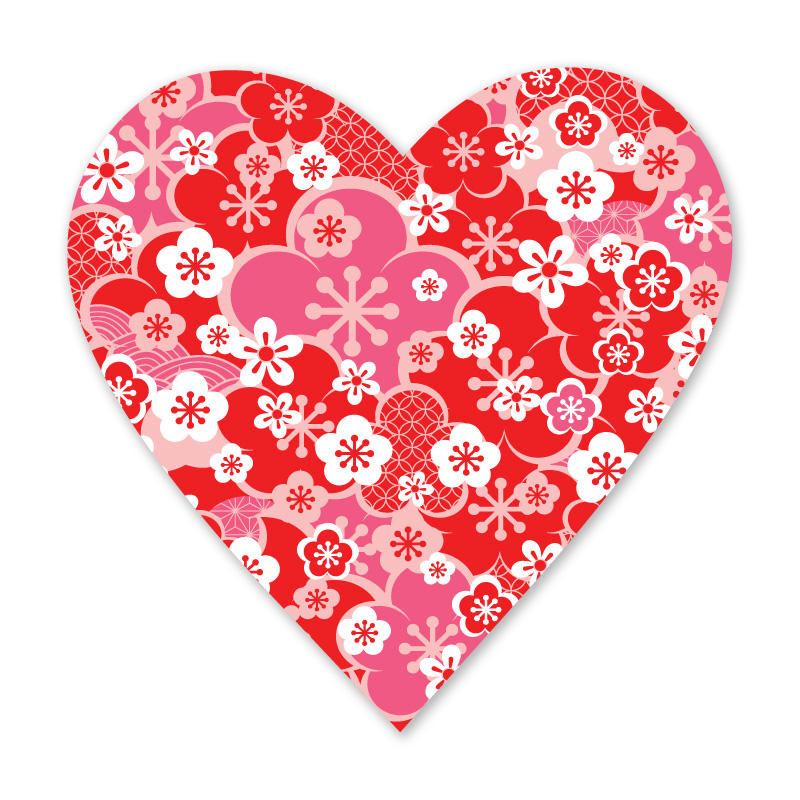 Ume Heart Decal (Red) - Emi Ink